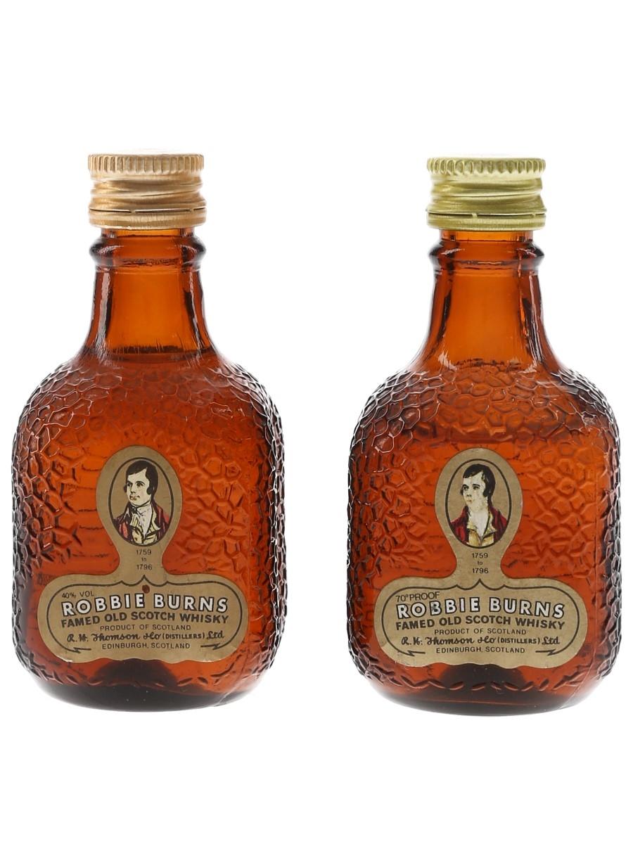 Robbie Burns Bottled 1970s & 1980s 2 x 5cl / 40%