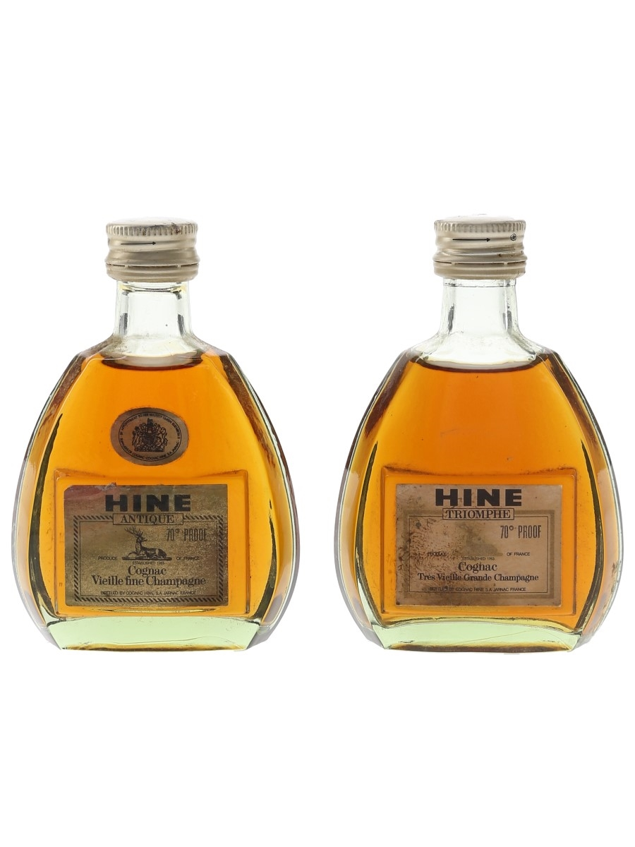 Hine Antique & Triomphe Bottled 1970s 2 x 5cl / 40%