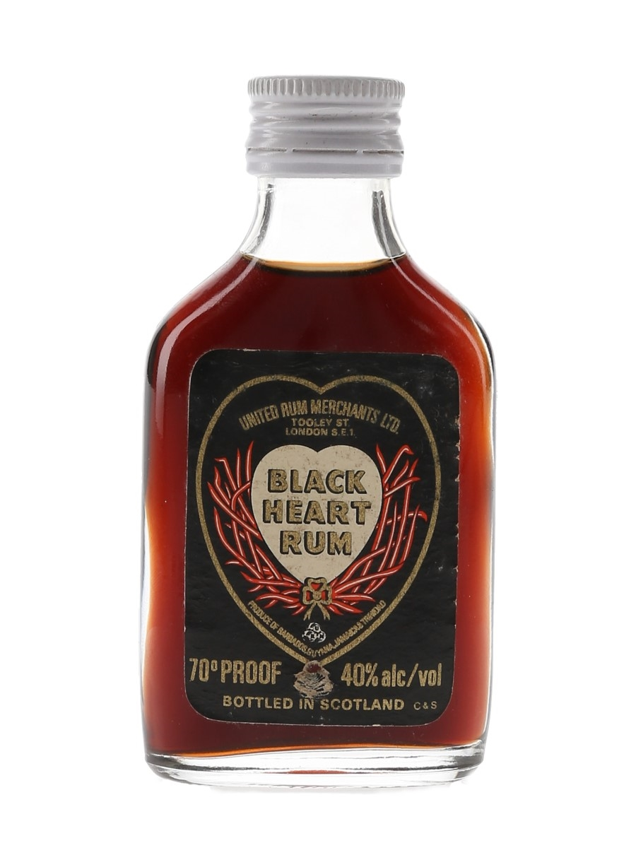 Black Heart Rum Bottled 1970s - United Rum Merchants 5cl / 40%