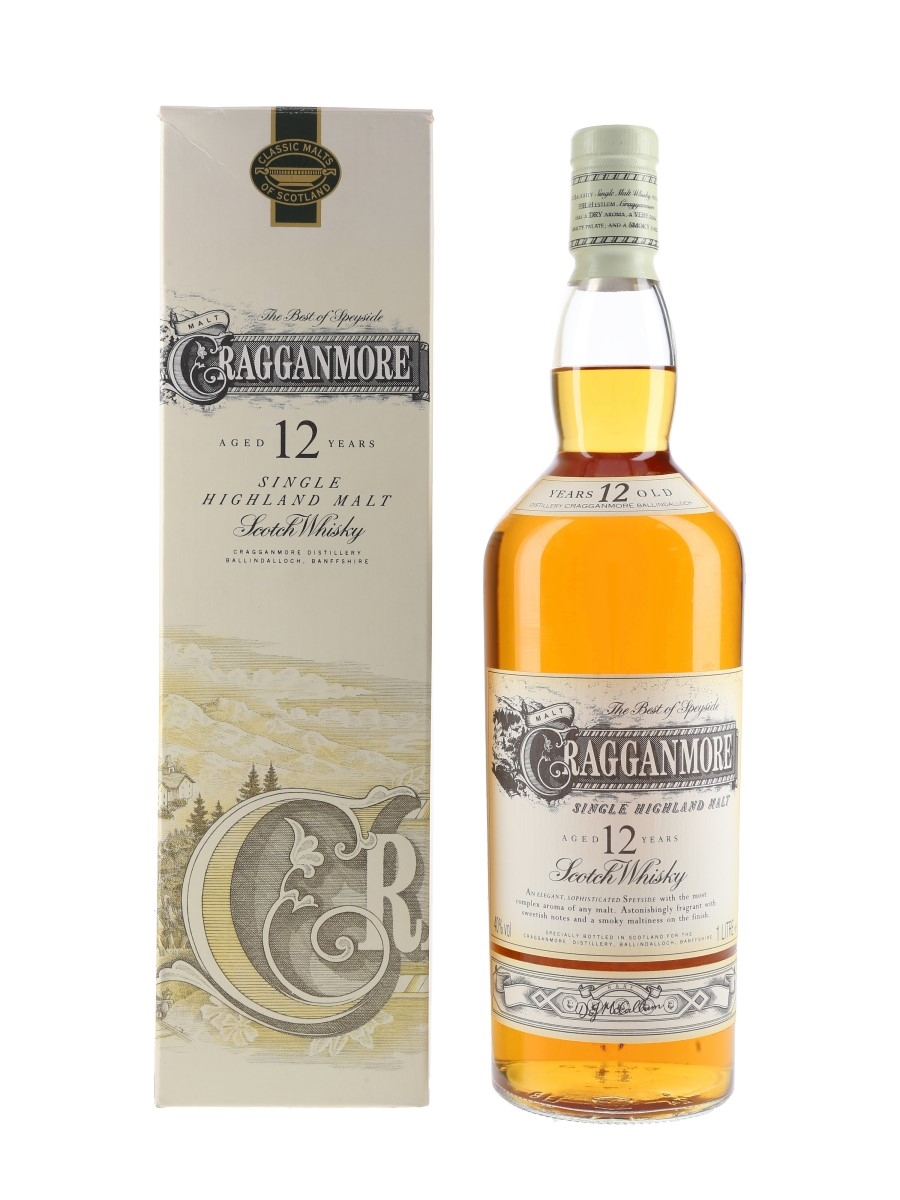 Cragganmore 12 Year Old Bottled 1990s 100cl / 40%