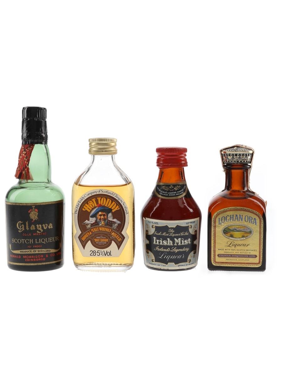 Glayva, Hot Toddy, Irish Mist & Lochan Ora  4 x 5cl