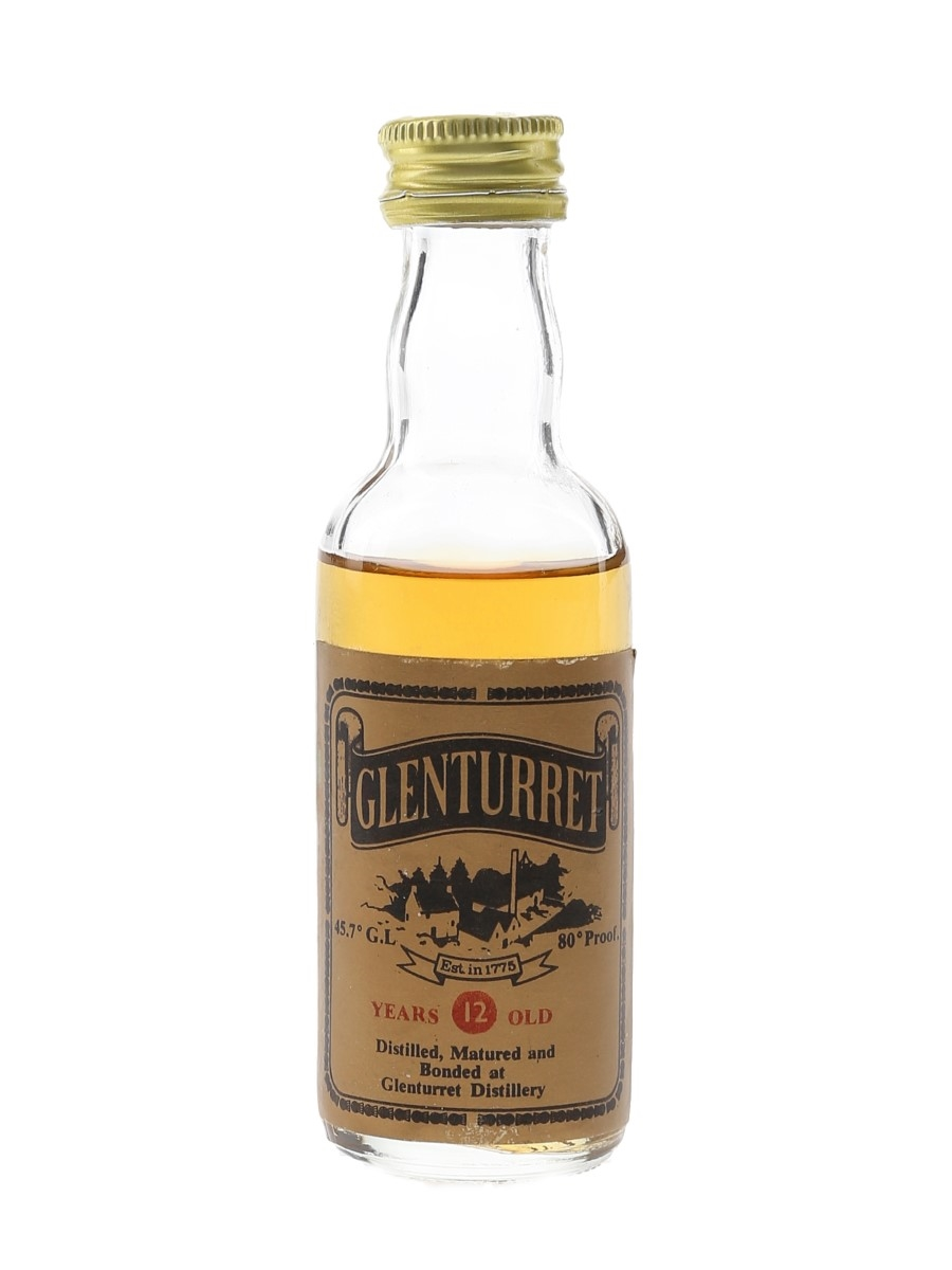 Glenturret 12 Year Old Bottled 1970s-1980s 5cl / 45.7%