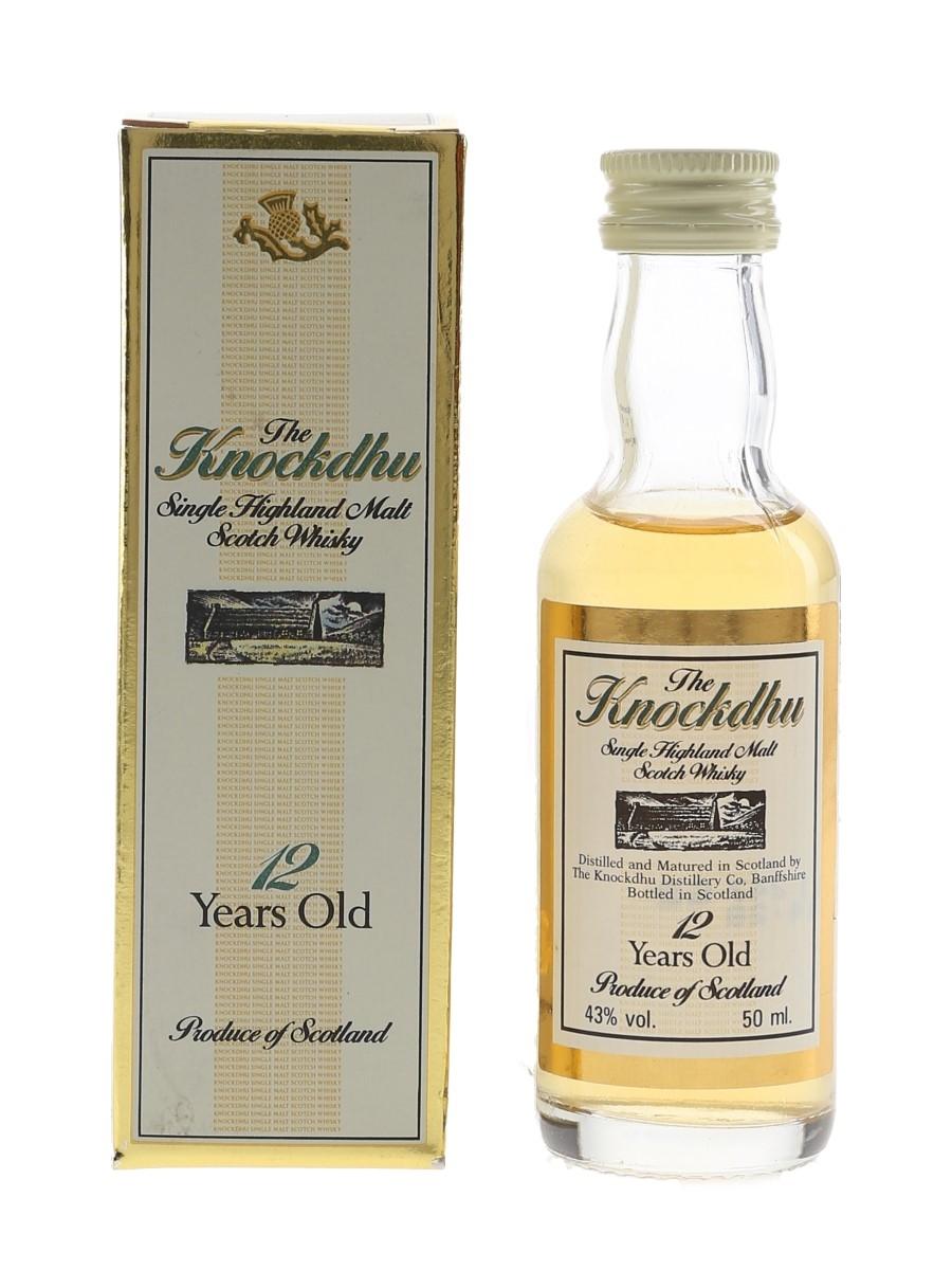 Knockdhu 12 Year Old Bottled 1990s 5cl / 43%
