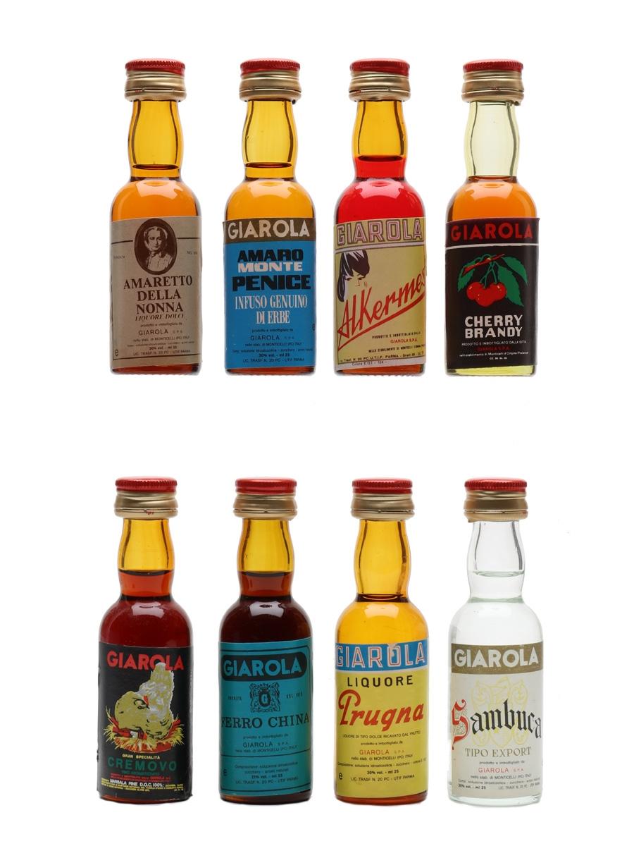 Giarola Liqueurs Bottled 1980s-1990s 8 x 2.5cl