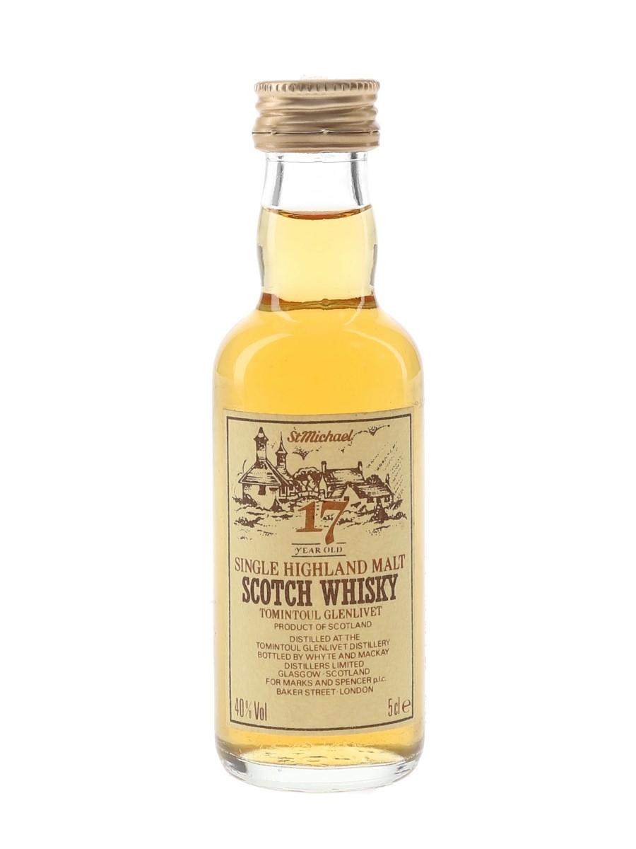 Tomintoul Glenlivet 17 Year Old Whyte & Mackay Distillers Limited 5cl / 40%