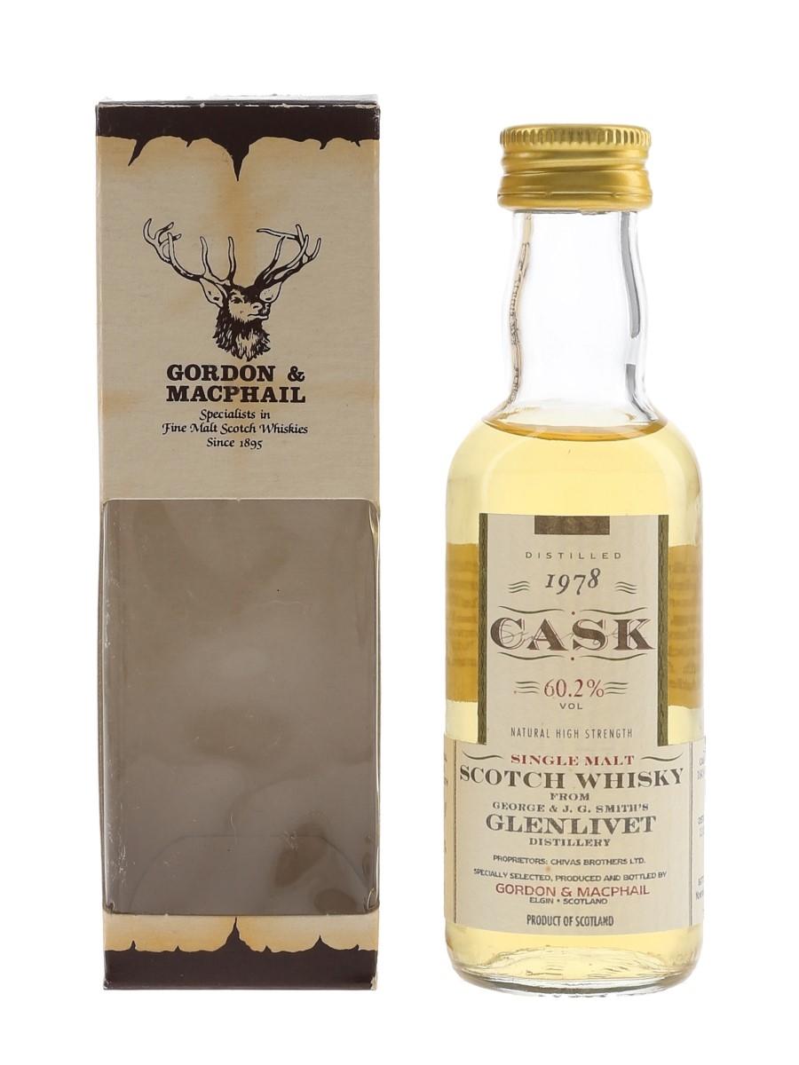 Glenlivet 1978 Cask Strength Bottled 1996 - Gordon & MacPhail 5cl / 60.2%