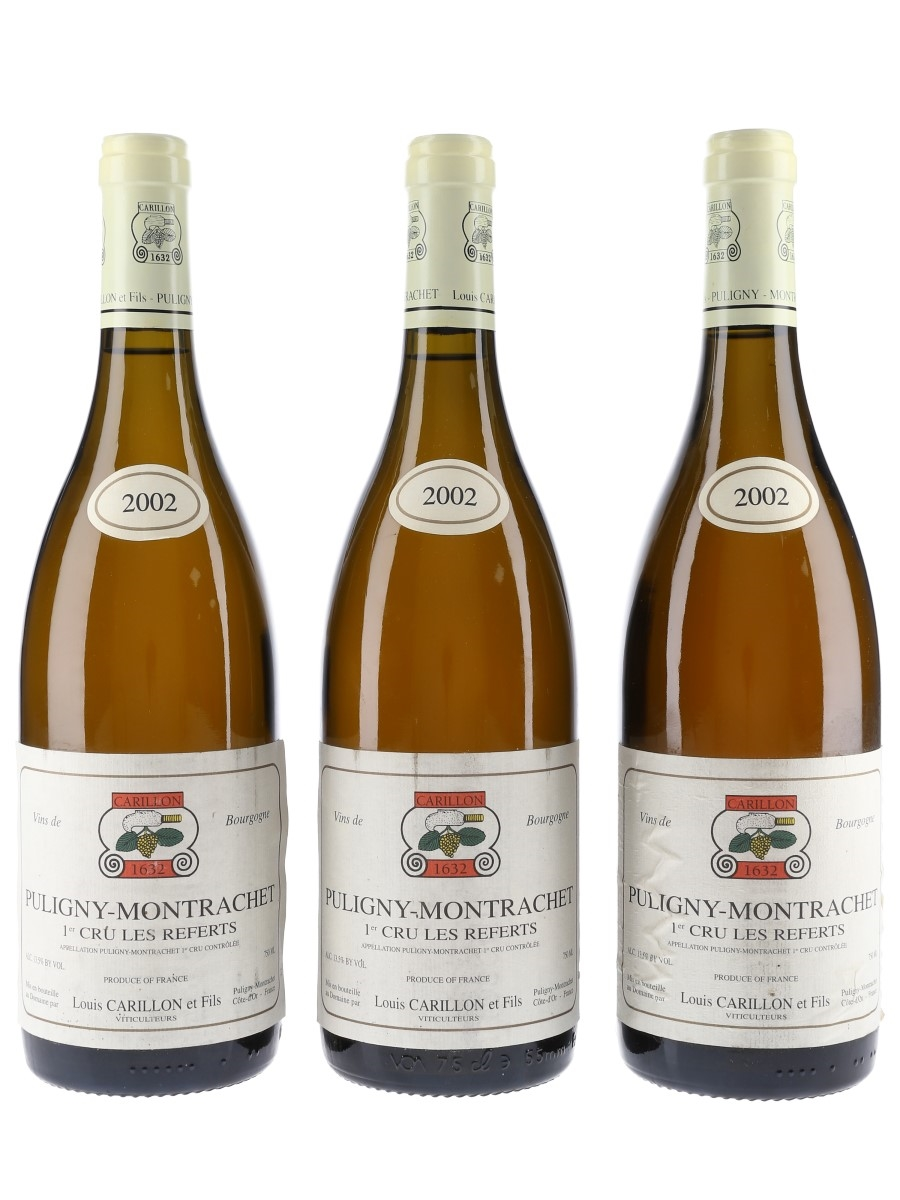 Louis Carillon 2002 Puligny Montrachet 1er Cru Les Referts 3 x 75cl / 13.5%