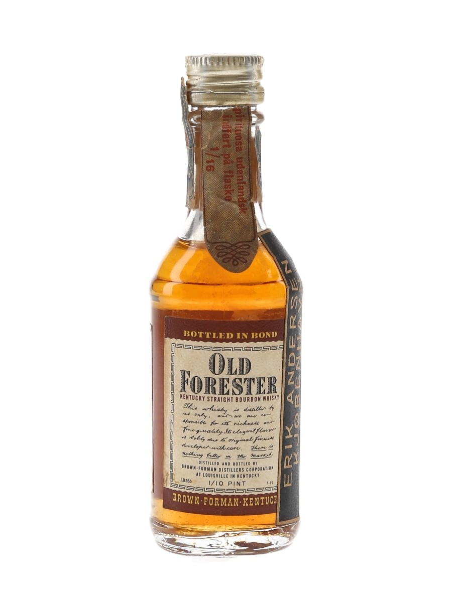 Old Forester Bottled In Bond Made 1952, Bottled 1956 4.7cl / 43%