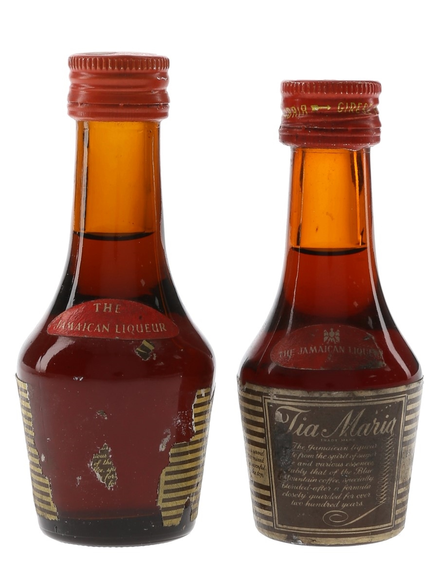 Tia Maria Bottled 1970s 2 x 5cl