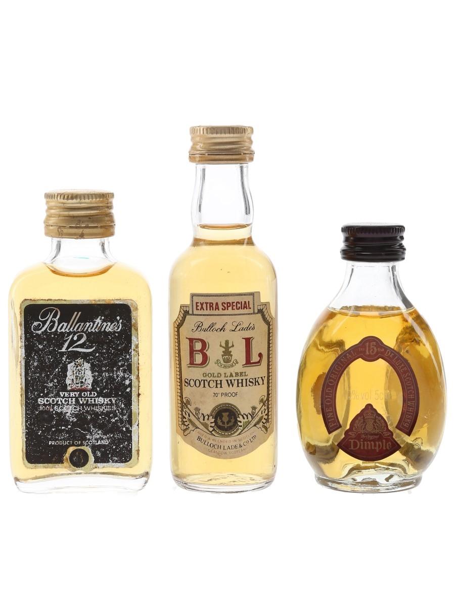 Ballantine's, Bulloch Lade & Dimple Bottled 1970s & 1980s 3 x 5cl / 40%