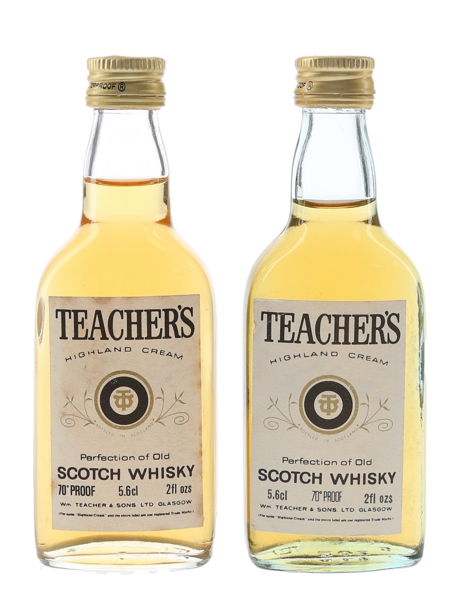 Teacher's Highland Cream Bottled 1970s 2 x 5.6cl / 40%