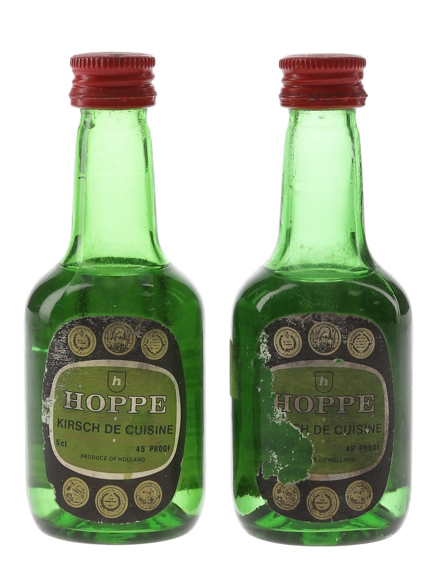 Hoppe Kirsch De Cuisine Bottled 1980s 2 x 5cl / 25.7%
