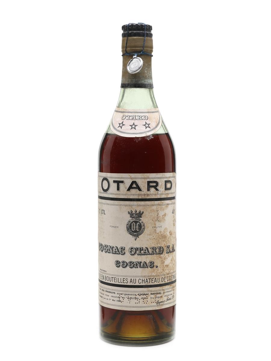 Otard 3 Star Cognac Bottled 1940s 72cl