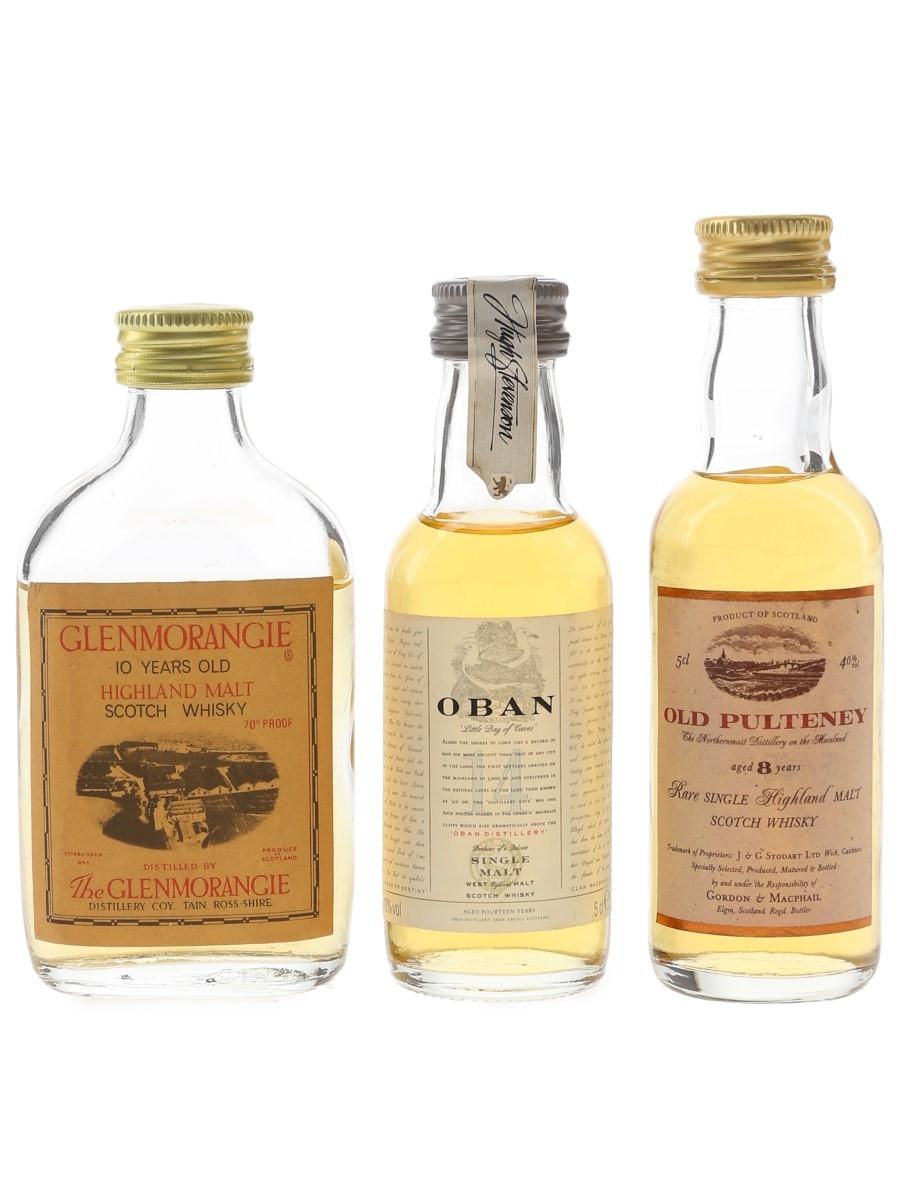 Glenmorangie, Oban & Old Pulteney  3 x 5cl