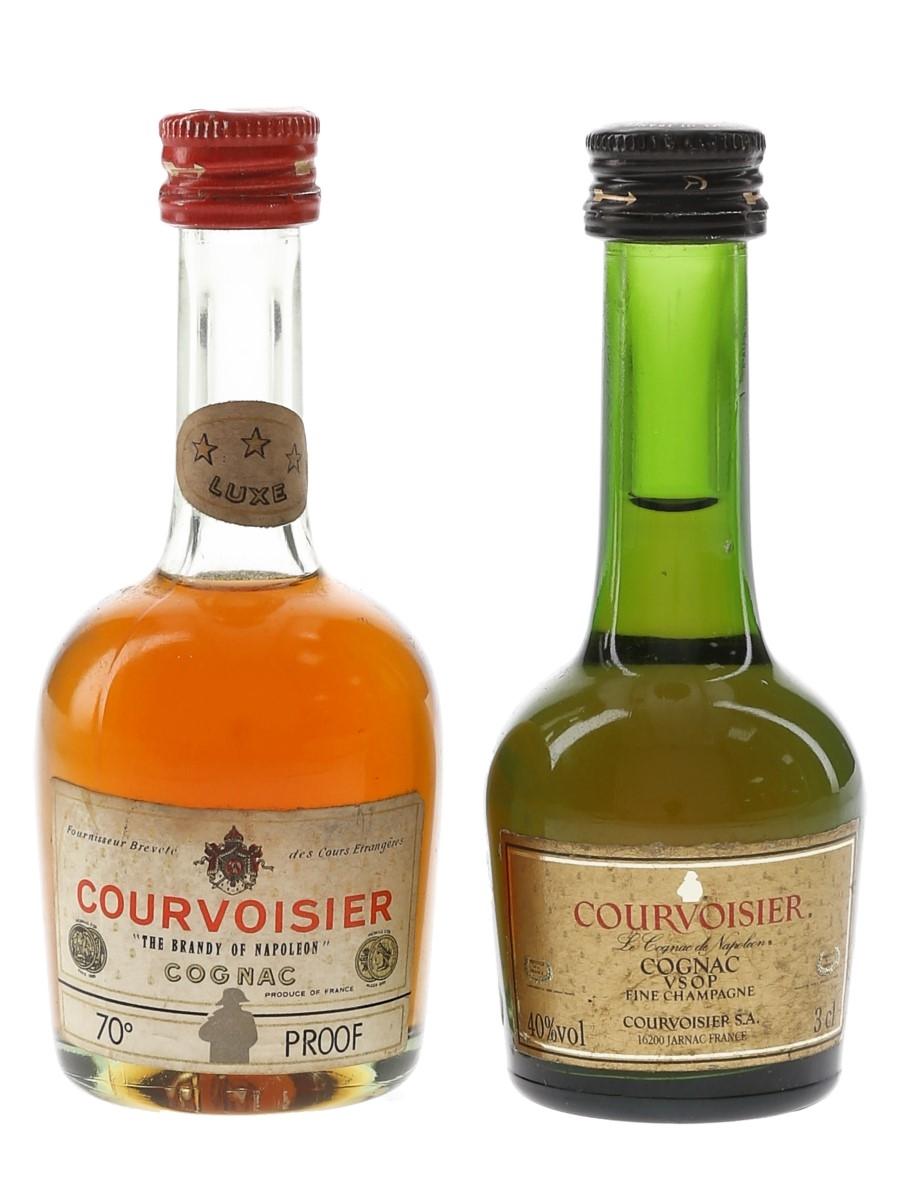 Courvoisier 3 Star & VSOP Bottled 1970s & 1980s 3cl & 5cl / 40%