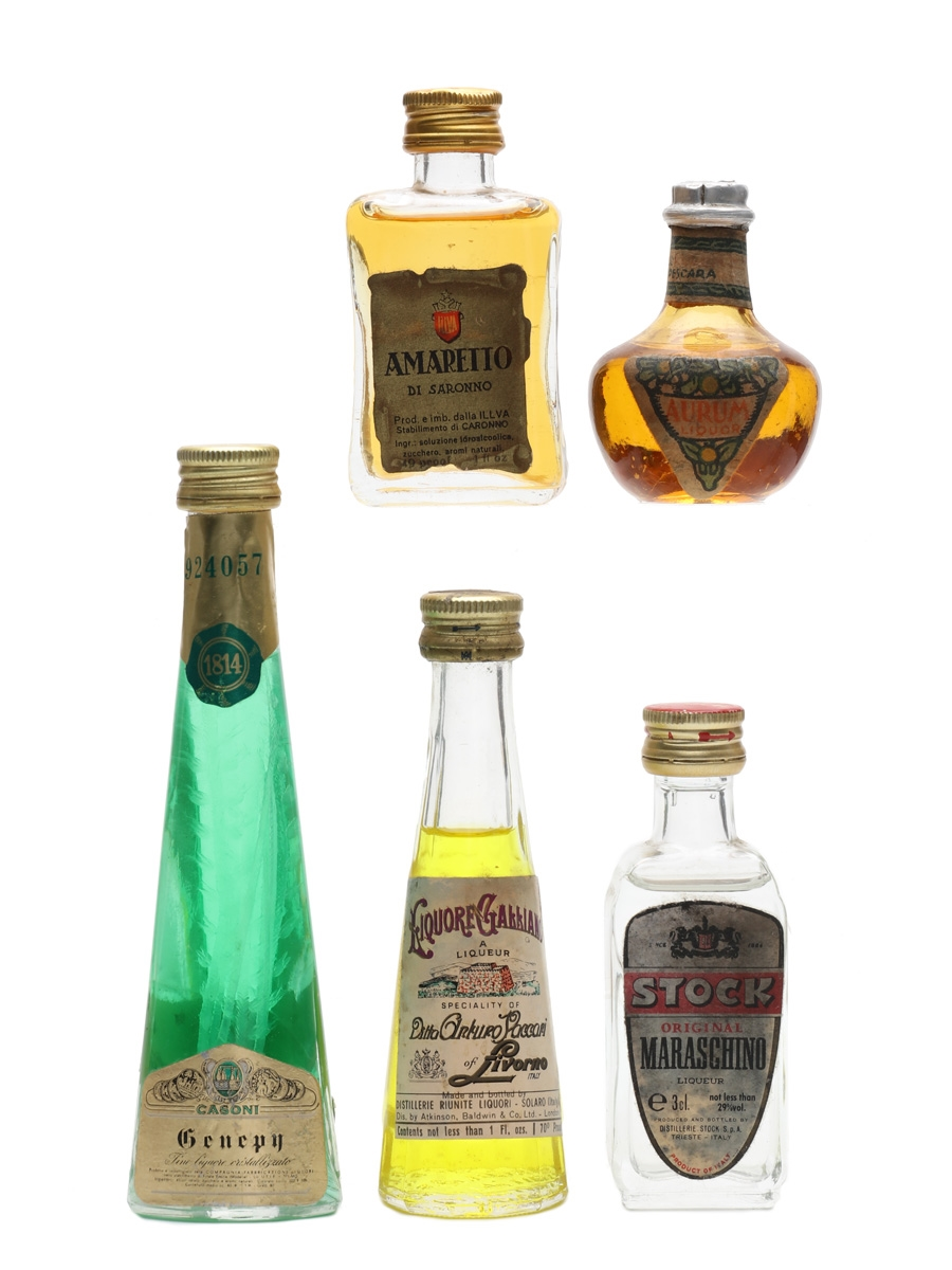 Assorted Italian Liqueurs  5 x 2.5cl-4cl