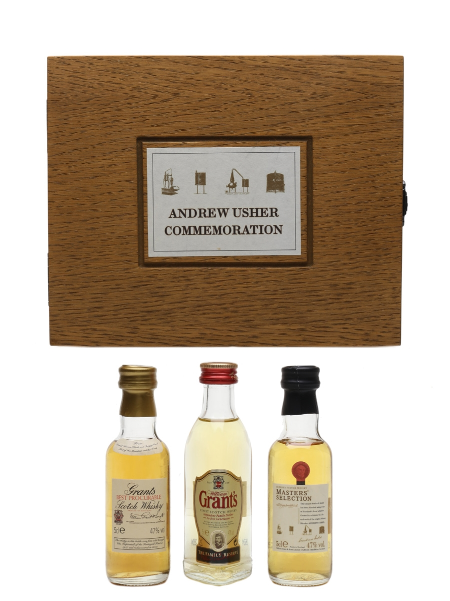 Grant's Andrew Usher Commemoration Set Master's Selection, Family Reserve, Best Procurable 3 x 5cl / 47%