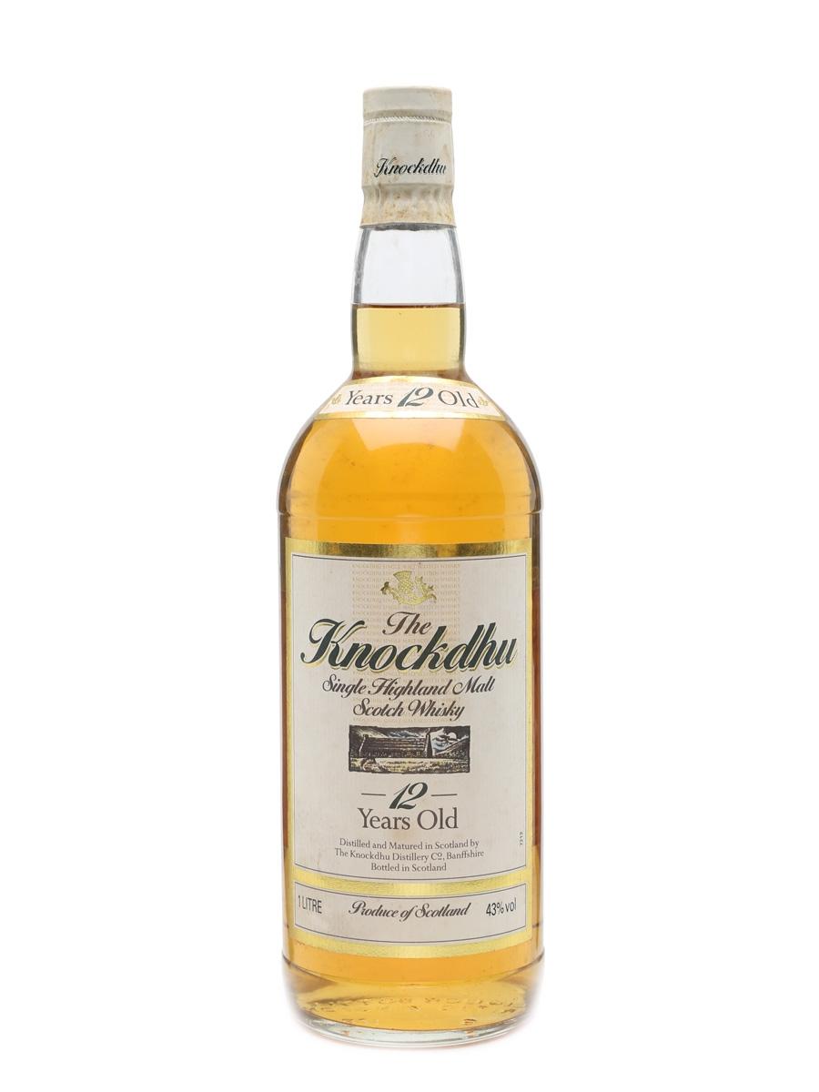 The Knockdhu 12 Year Old Bottled 1980s 100cl