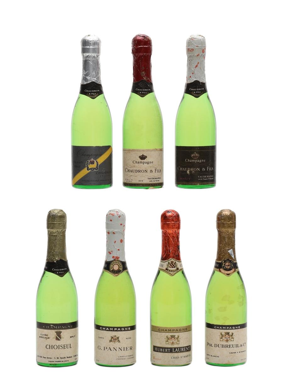 Assorted Novelty Champagne Bottles  7 x 1cl