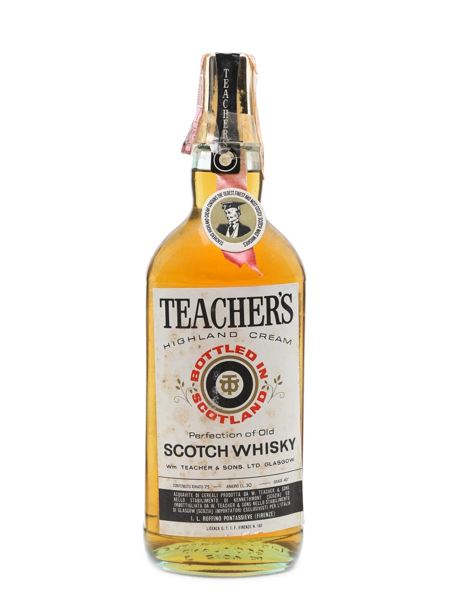 Teacher's Highland Cream Bottled 1970s 75cl / 40%