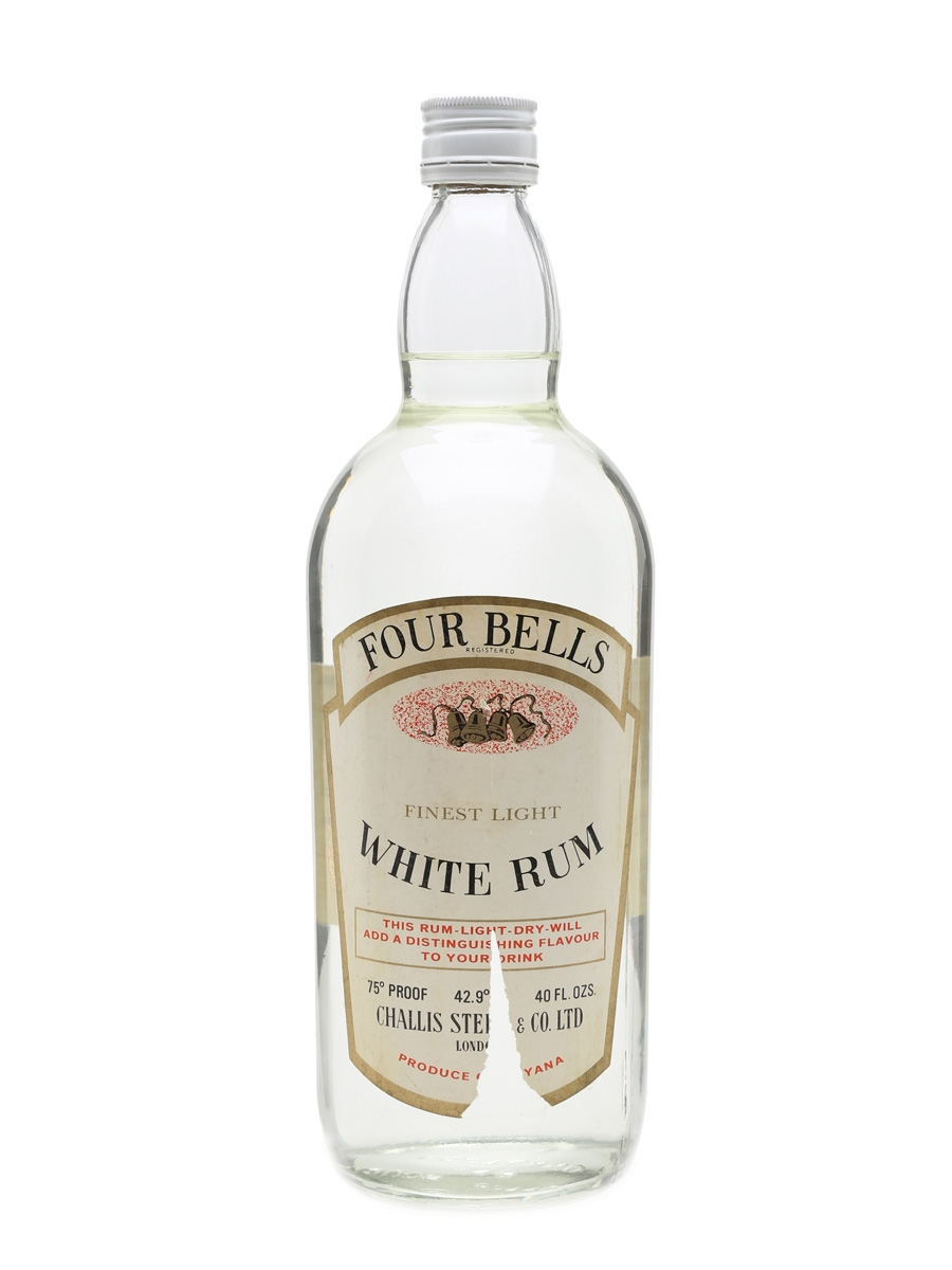 Four Bells White Rum Bottled 1970s 114cl