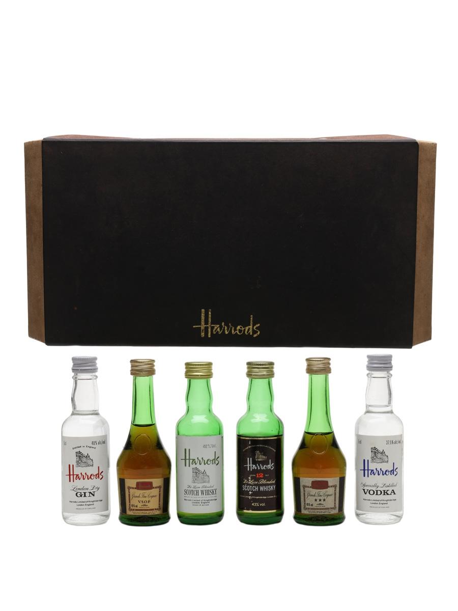Assorted Harrods Spirits Gin, Cognac, Whisky & Vodka 6 x 5cl
