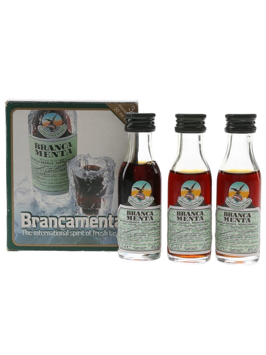 Fernet Branca Menta Bottled 1990s 3 x 2cl / 40%