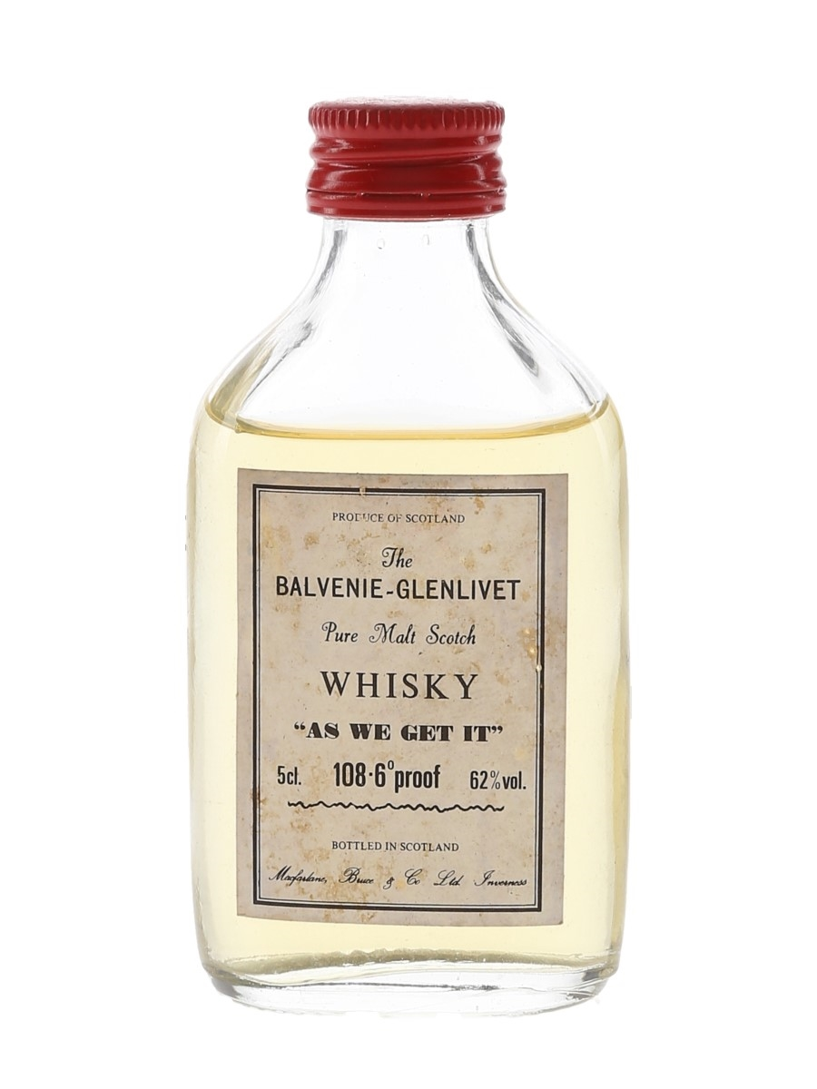 Balvenie-Glenlivet As We Get It Macfarlane, Bruce & Co. 5cl / 62%