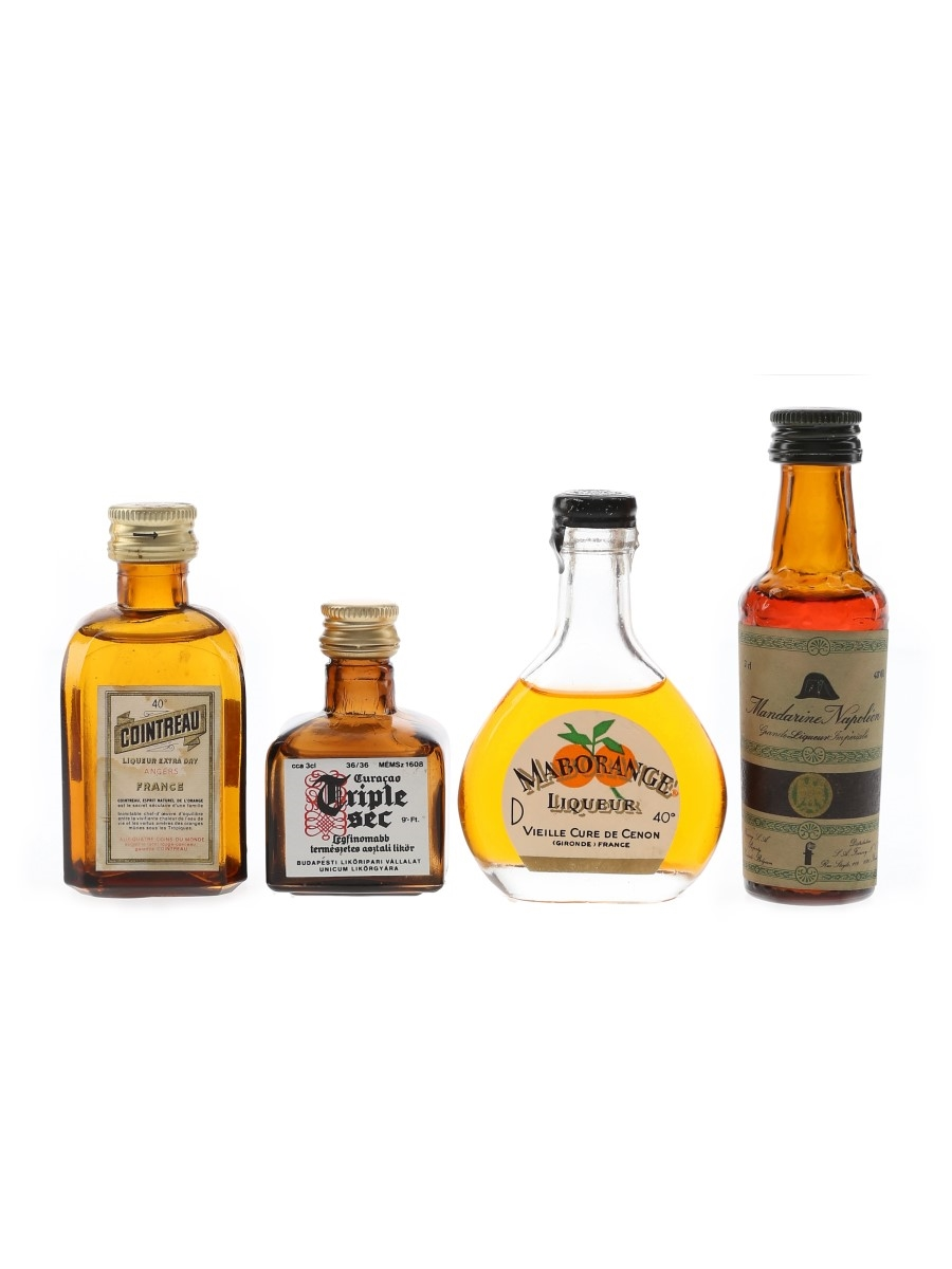 Assorted Orange Liqueurs  4 x 3cl-5cl