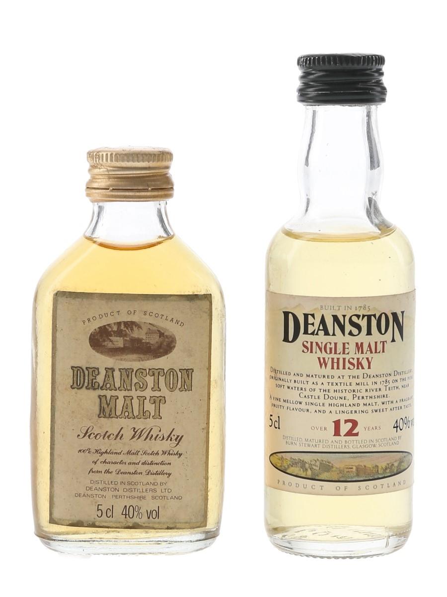 Deanston Malt & 12 Year Old Bottled 1980s & 1990s 2 x 5cl / 40%