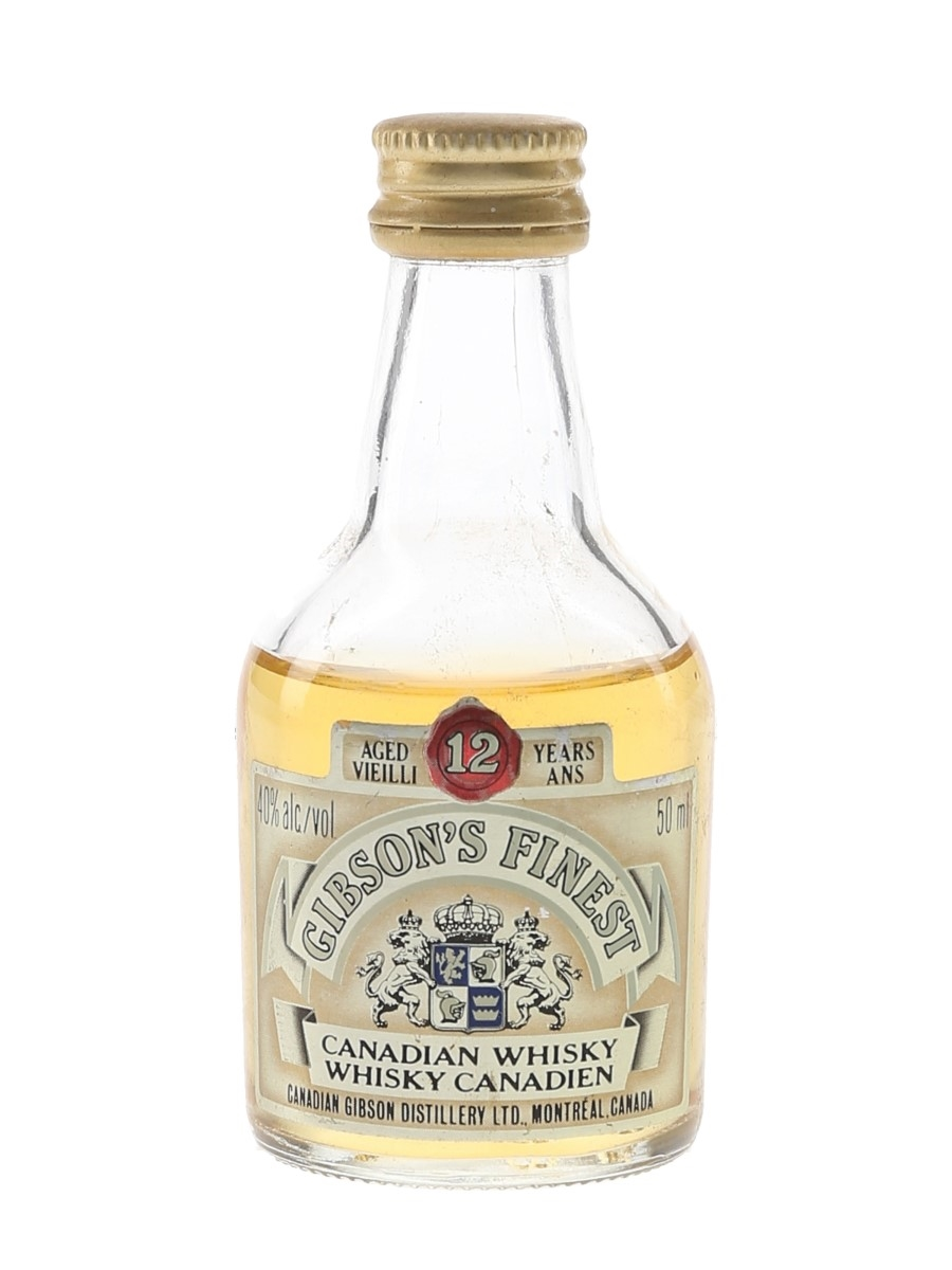 Gibson's Finest 12 Year Old Bottled 1980s 5cl / 40%