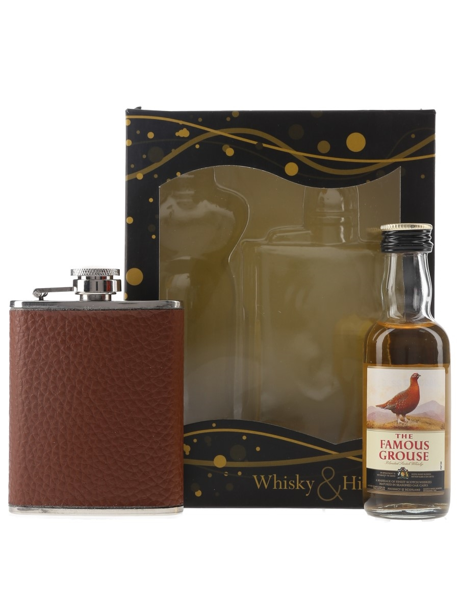 Famous Grouse & Hip Flask  5cl / 40%