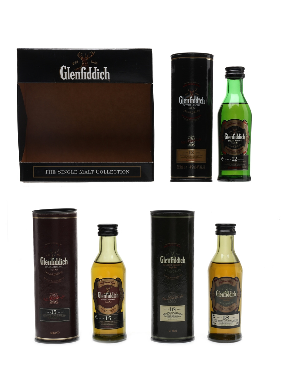 Glenfiddich Single Malt Collection 12, 15 & 18 Year Old 3 x 5cl / 40%