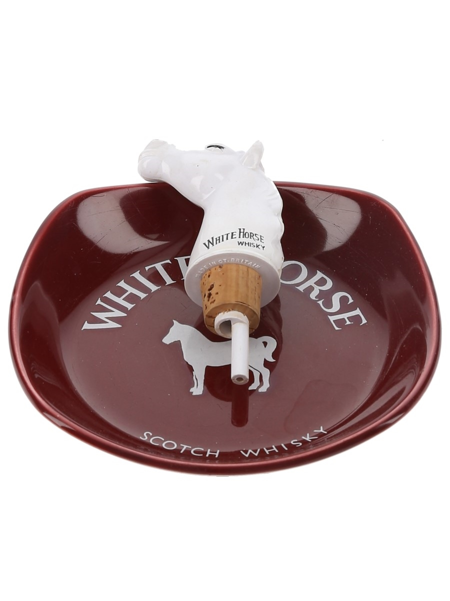 White Horse Pourer & Ashtray