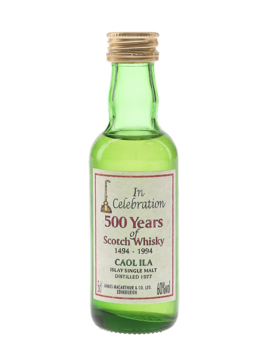 Caol Ila 1977 James MacArthur's - 500 Years Of Scotch Whisky 5cl / 60%
