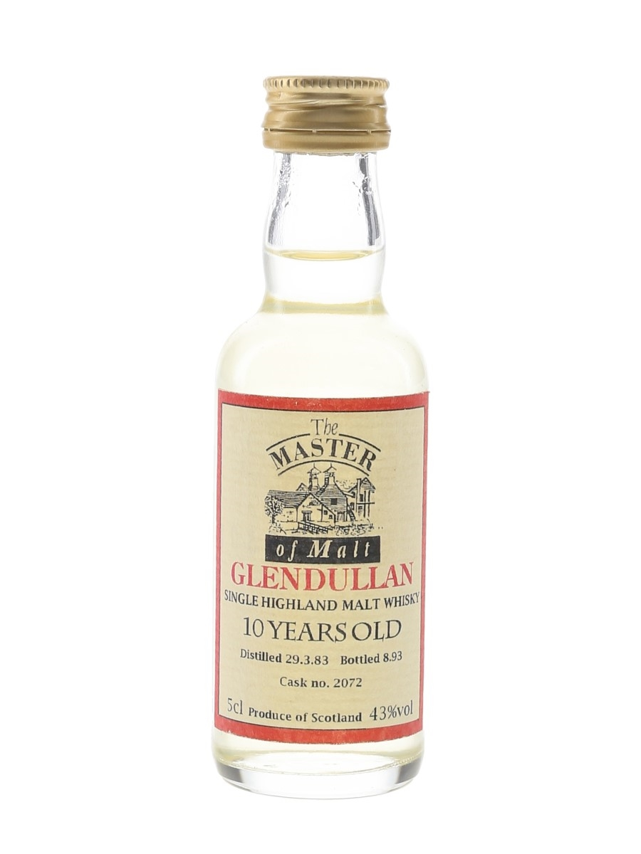 Glendullan 1983 10 Year Old Cask 2072 Bottled 1993 - The Master Of Malt 5cl / 43%
