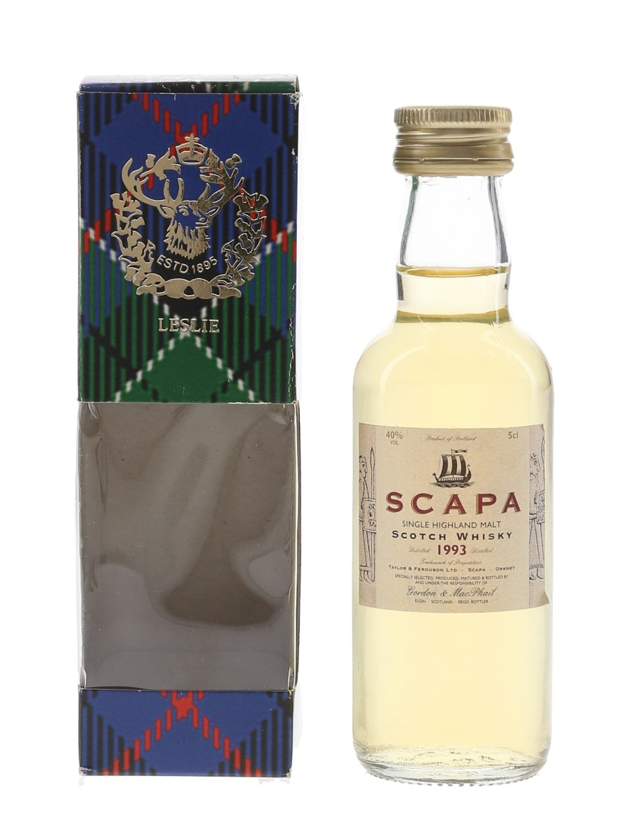 Scapa 1993 Bottled 2006 - Gordon & MacPhail 5cl / 40%