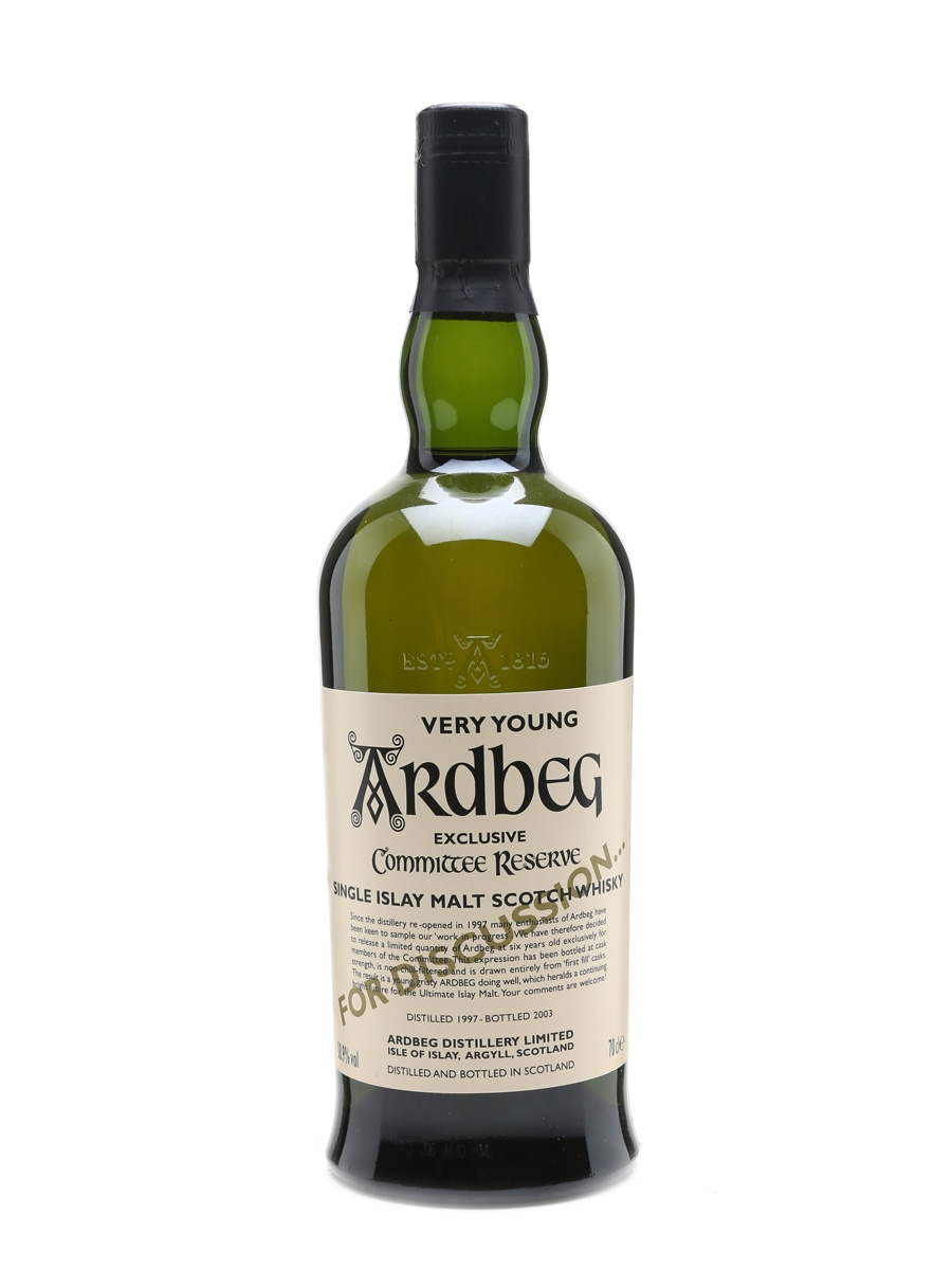 Ardbeg 1997 Very Young Bottled 2003 70cl / 58.9%