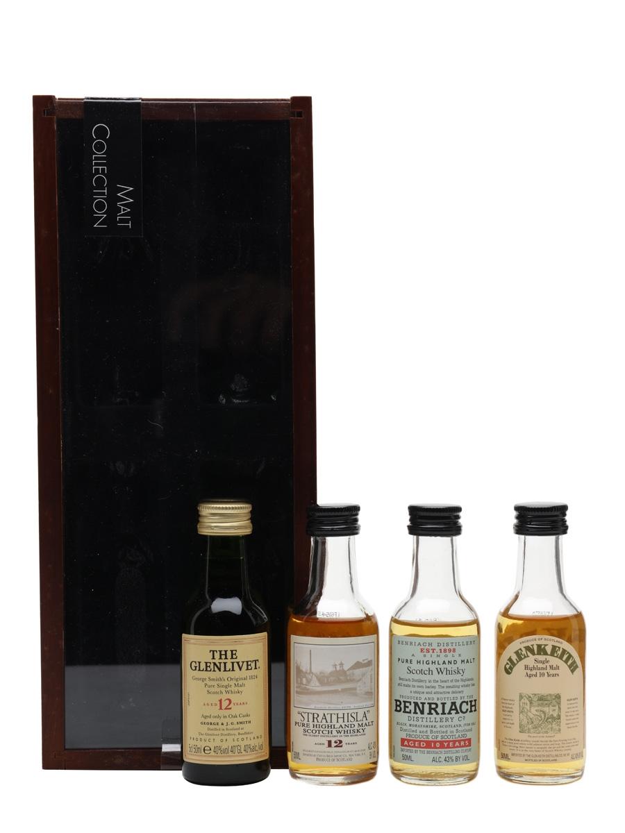 Speyside Malt Whisky Collection Glenlivet, Benriach, Strahisla, Glen Keith 4 x 5cl
