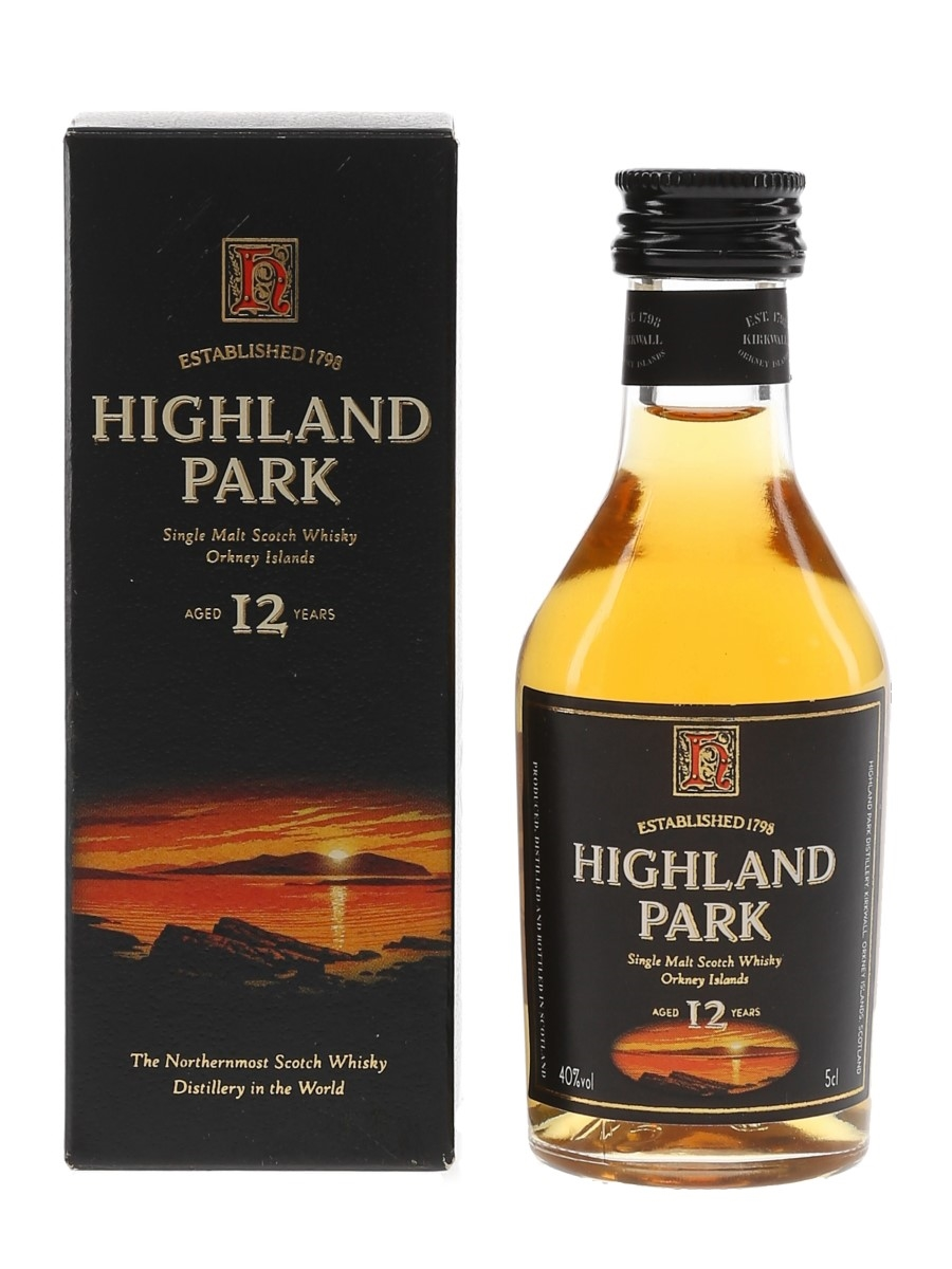 Highland Park 12 Year Old Bottled 1990s 5cl / 40%