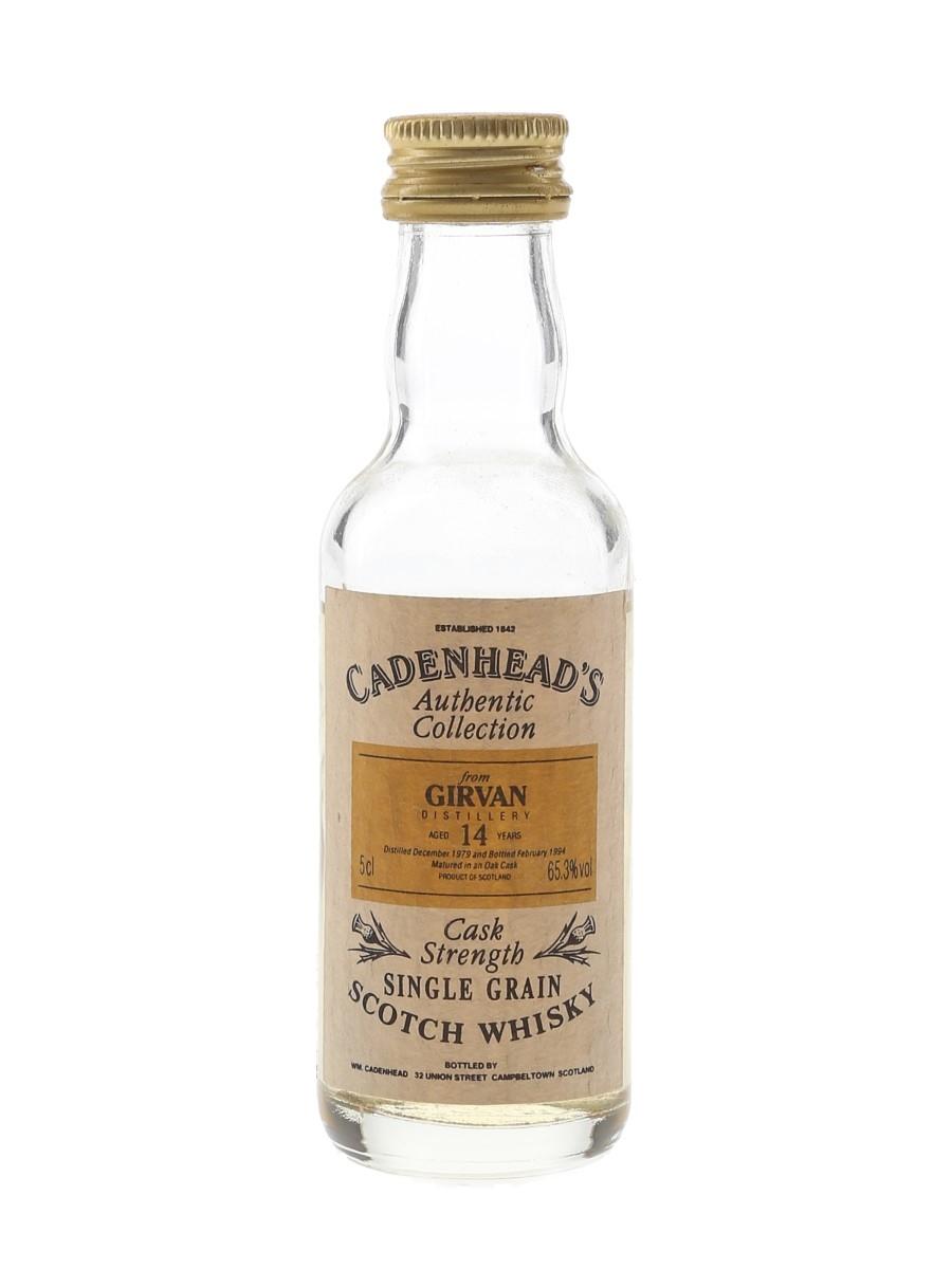 Girvan 1979 14 Year Old Cask Strength Bottled 1994 - Cadenhead's 5cl / 65.3%