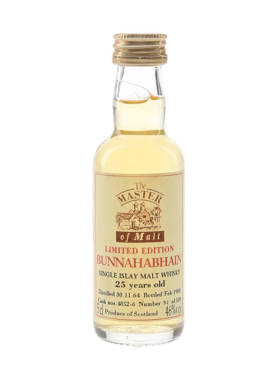 Bunnahabhain 1964 25 Year Old Bottled 1990 - The Master Of Malt 5cl / 46%