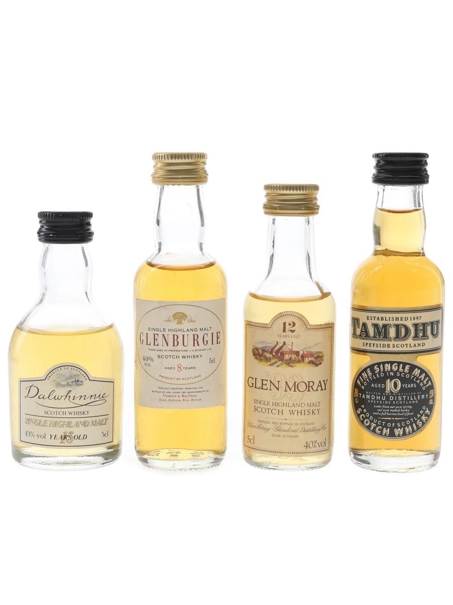 Dalwhinnie, Glenburgie, Glen Moray & Tamdhu  4 x 5cl