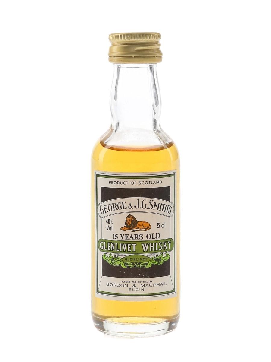 Glenlivet 15 Year Old Bottled 1980s - Gordon & MacPhail 5cl / 40%