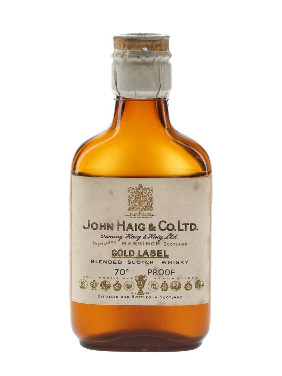 Haig's Gold Label Spring Cap Bottled 1940s-1950s 5cl / 40%