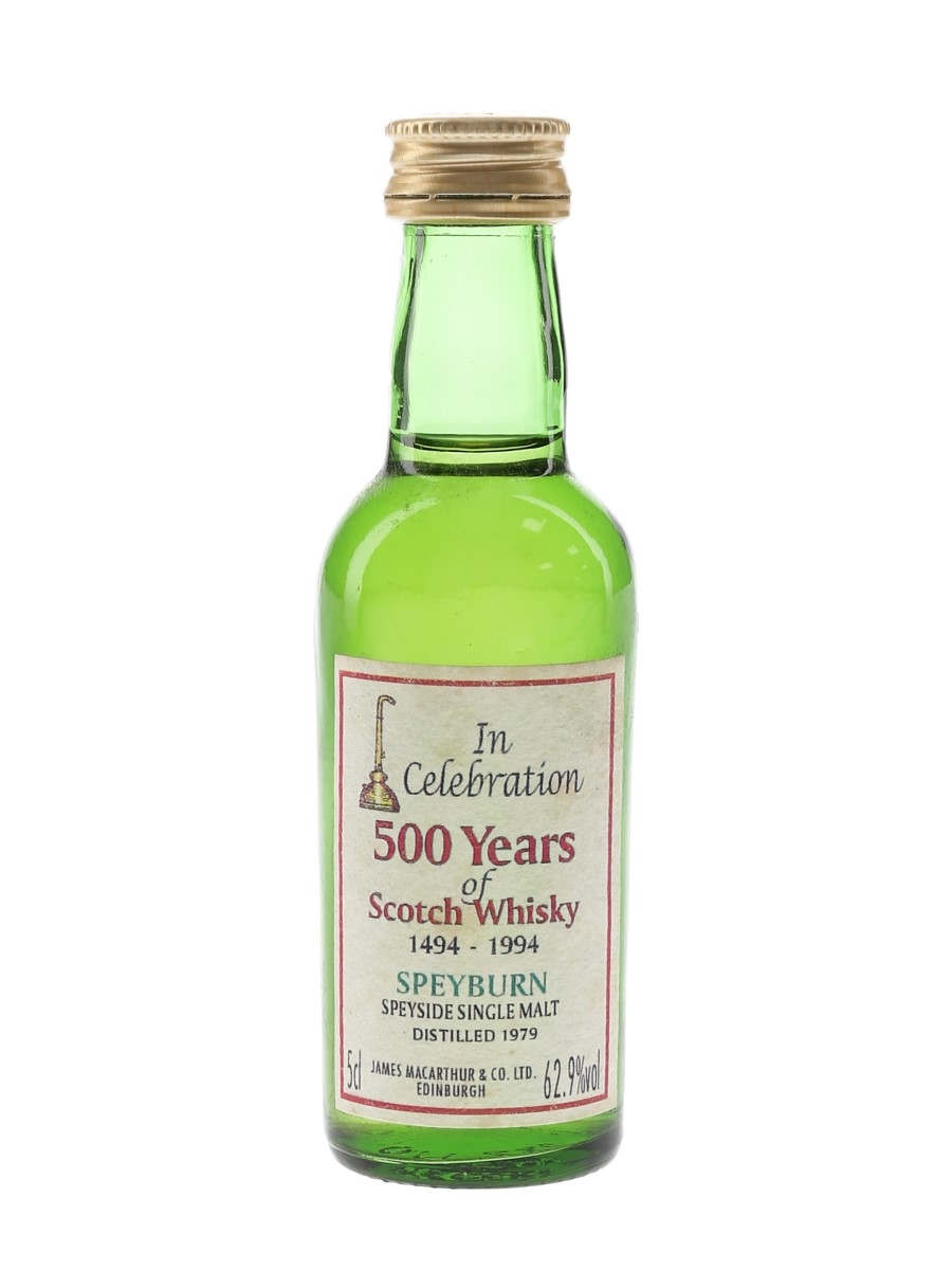 Speyburn 1979 James MacArthur's - 500 Years Of Scotch Whisky 5cl / 62.9%