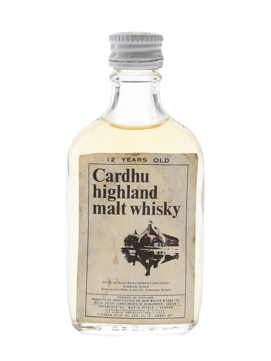 Cardhu 12 Year Old Bottled 1970s - Wax & Vitale 4cl / 43%