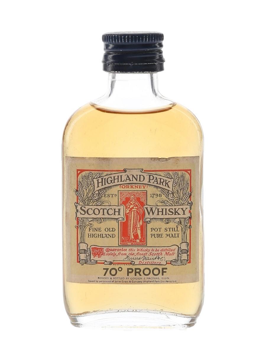 Highland Park Bottled 1970s - Gordon & MacPhail 5cl / 40%