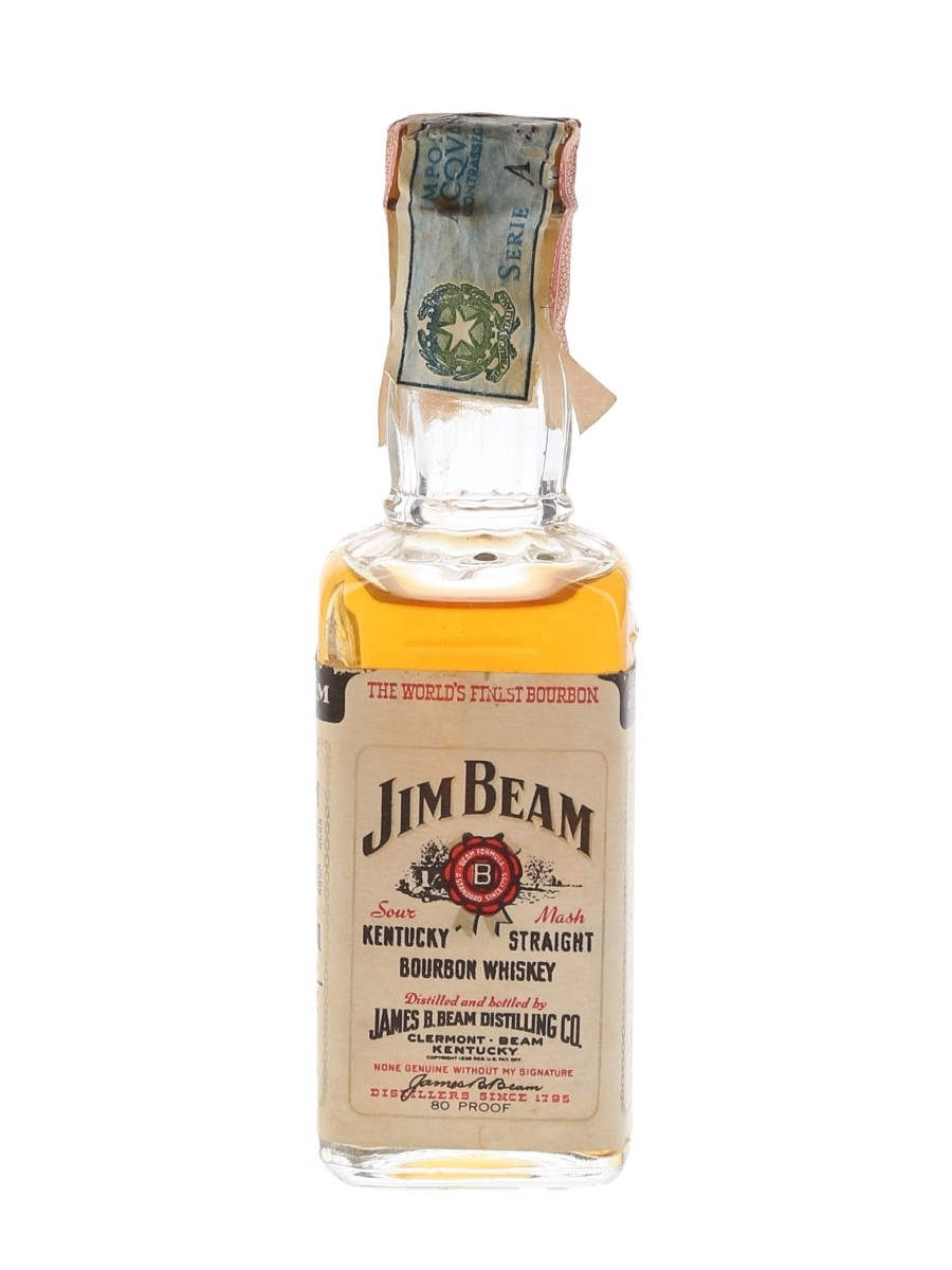 Jim Beam Bottled 1970s-1980s - Spirit 5cl / 40%