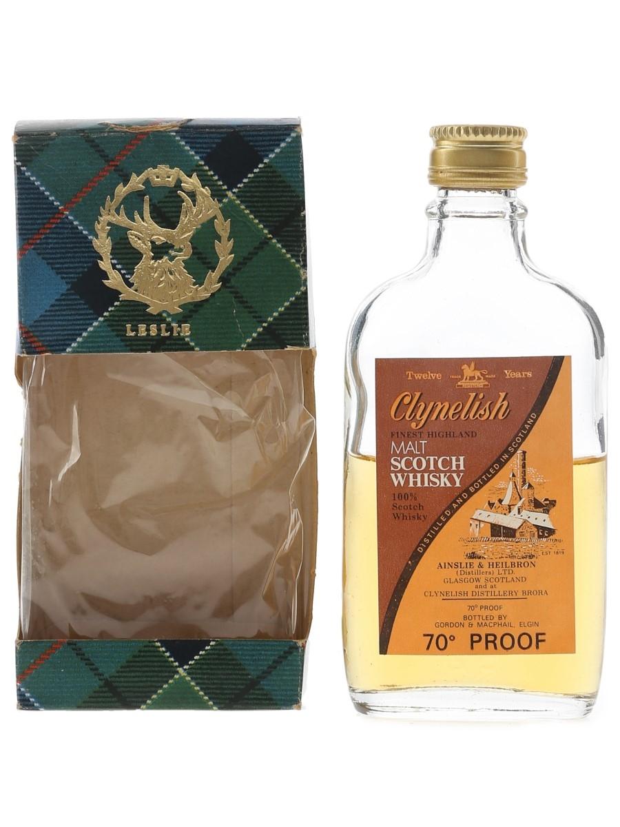 Clynelish 12 Year Old Bottled 1970s - Gordon & MacPhail 5cl / 40%